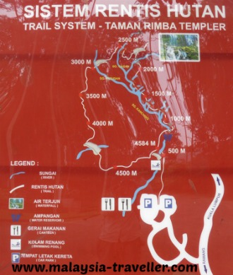 Taman Rimba Templer Trail Map