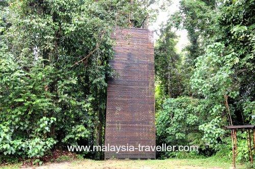 Abseiling wall at Sungai Sedim