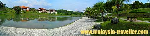 The pebble beach at Taman Wawasan.