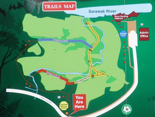Wind Cave Nature Reserve, Trail Map