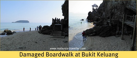 Wooden walkway at Bukit Keluang
