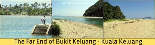 The end of Bukit Keluang closest to the river.