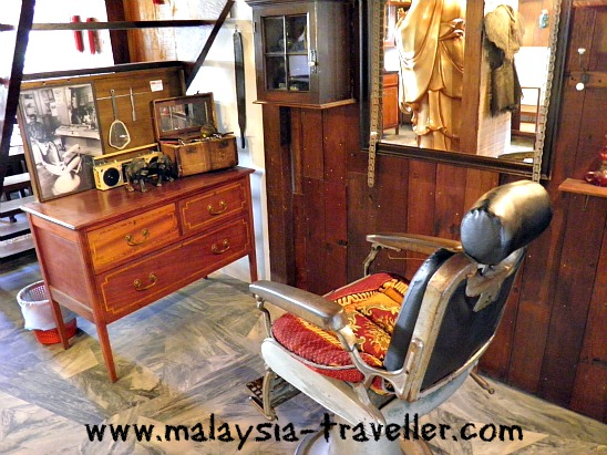 Barber shop at Gopeng Heritage House
