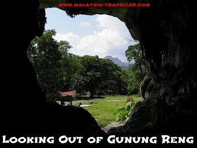 Looking Out of Gunung Reng Cave