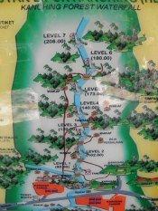 Kanching Rainforest Waterfall Map