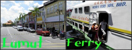Lumut town and ferry to Pangkor